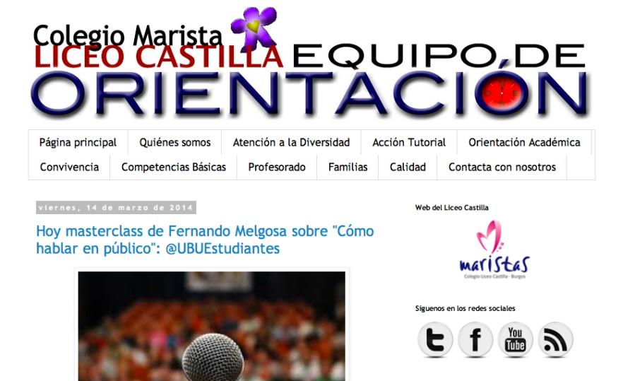 Blog Equipo de Orientación Liceo Castilla