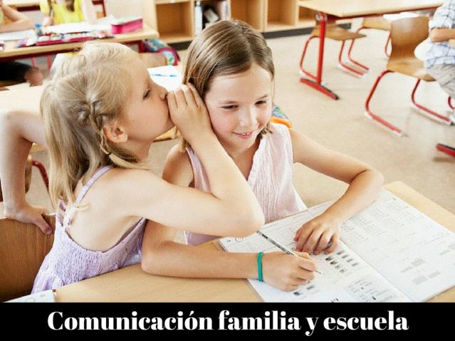 Comunicación familia y escuela
